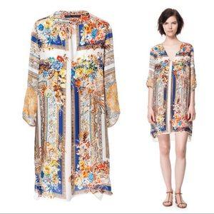 Zara Floral Scarf Print Dress